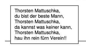 Abdruck des Mattuschka-Liedes im Kurvenflyer Wald-Seite zum Spiel gegen Koblenz vom 19.02.2010